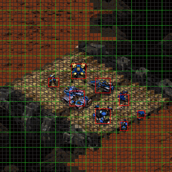Starcraft 1 pathfinding grid